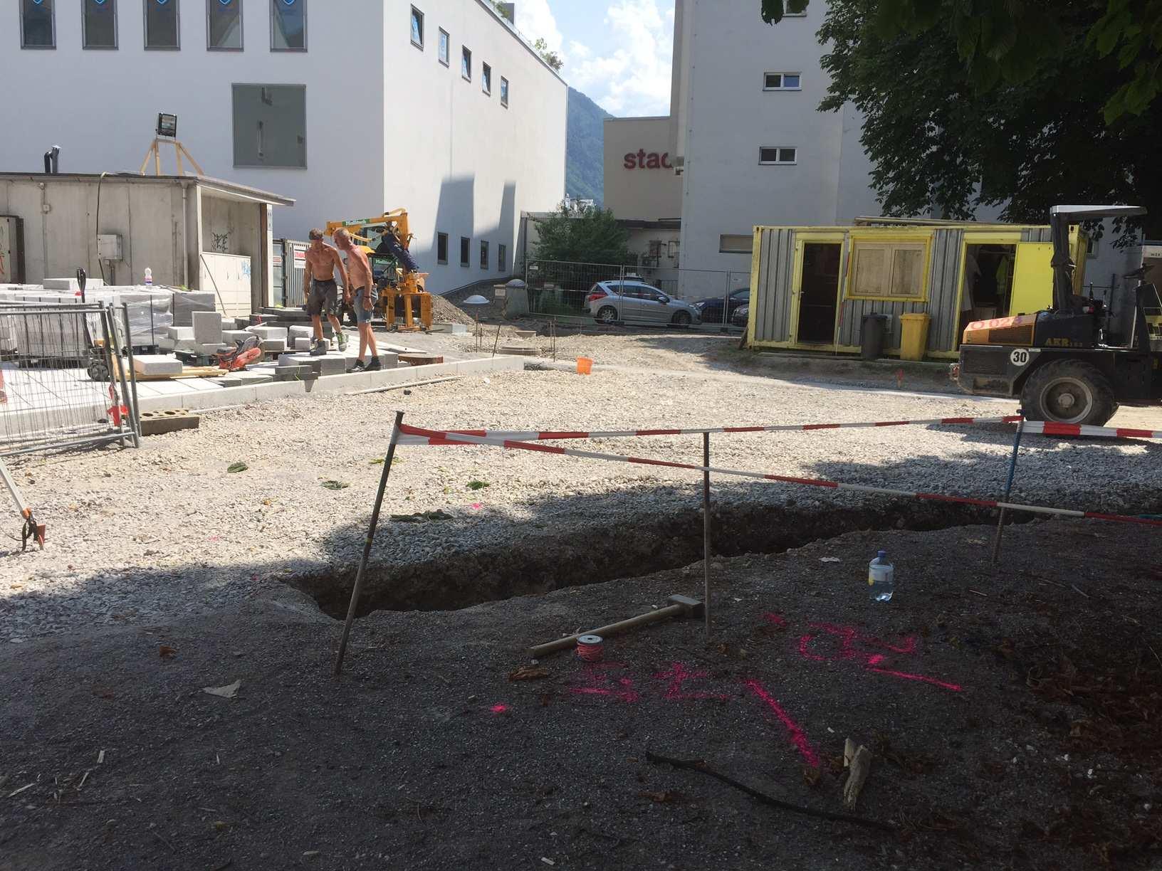 Dornbirn: Baustelle Schulgasse